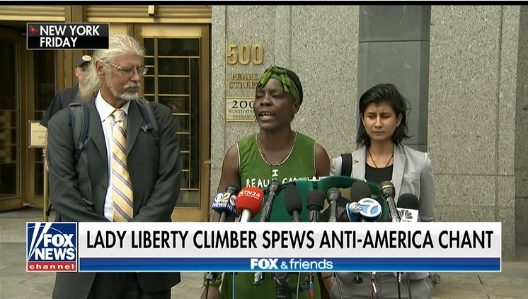 WATCH: Statue of Liberty Climber Spews Anti-America Chant Outside Manhattan Court
